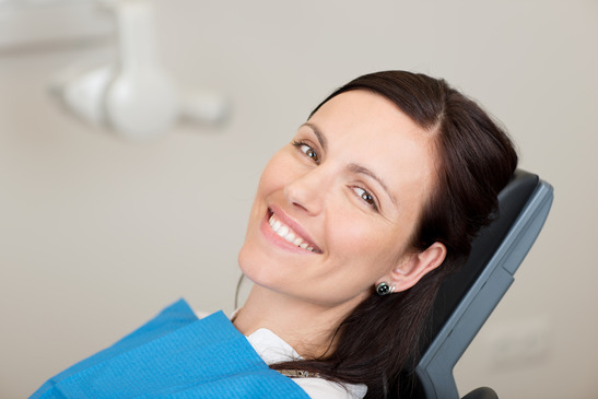 Female Patient Smiling In Dentistry